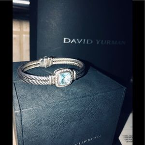 Vintage David Yurman Blue Topaz Bracelet